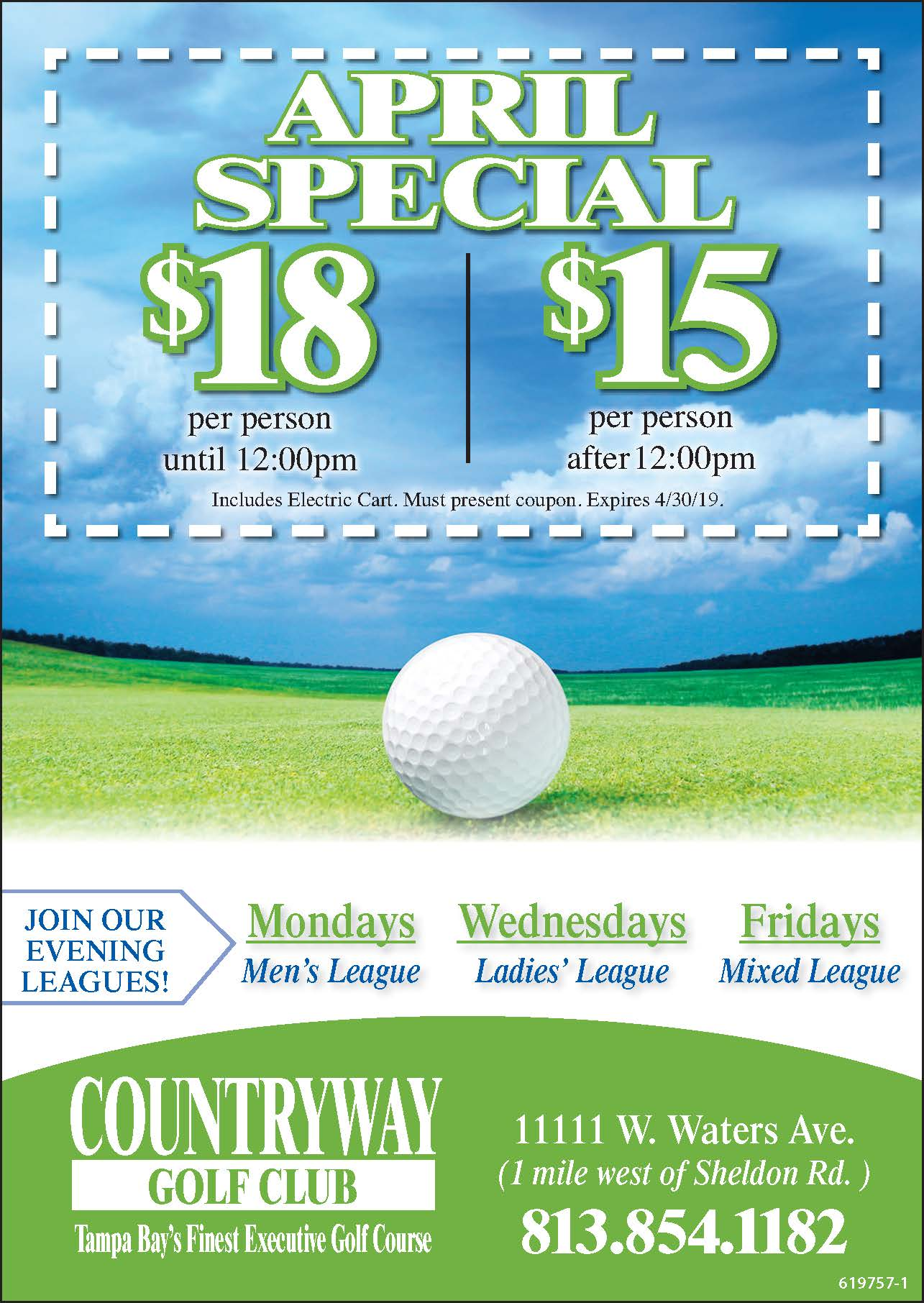Coupons - Countryway Golf Club